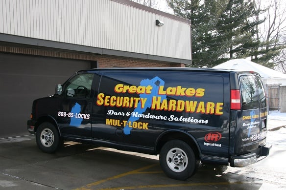 Michigan Commercial hardware Solutions van